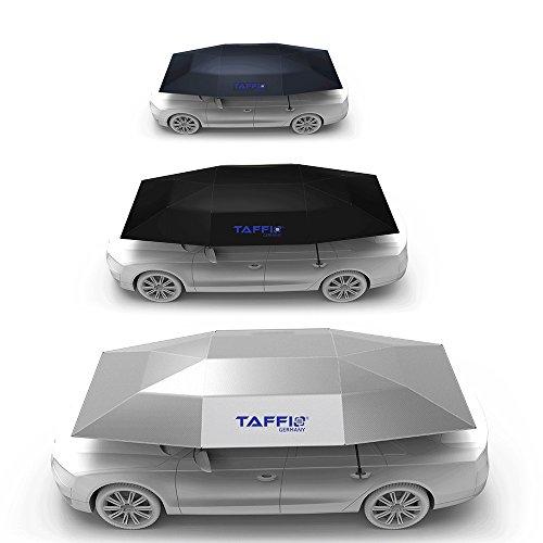 TAFFIO® Car Umbrella Sonnenschirm und Regenschutz Fürs Auto Automatische Bedienung per Fernbedienung Funk Elektrisch automatisch Plane Schirm Schutz vor Dreck Staub Einfache Anbringung