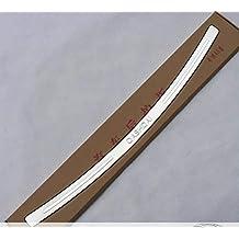 JUEGO COMPLETO : 1 MOLDURA/UMBRALE para protección de la entrada del tronco interior y 1 MOLDURA/UMBRALE exterior en acero inoxidable