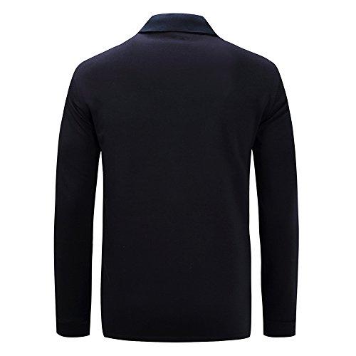 Mena Uk Maglietta manica lunga da uomo a forma di Uomo 1/4 - Tessuto morbido e tinto antipillato di alta qualità, traspirante e veloce asciugatura - Ideale per vivere e lavorare Royal blue