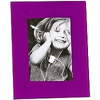 Versa 19000069 Portafotos 13X18 Vidrio Lila, 25,5x1,5x22,05cm, Cristal