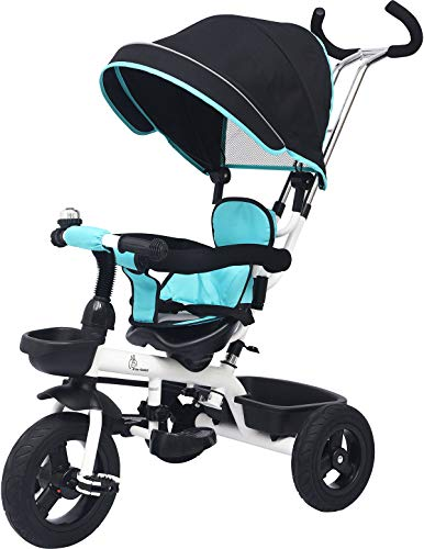 R for Rabbit Tiny Toes Striker - The Tricycle for Baby/ Kids with Striking Looks and Reverstible Seat (Green Black)