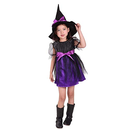 Mädchen Mardi Gras Kostüm - T-XYD Hexenkostüm Mädchen Halloween Kostüm Outfit Kinder Bühnenkostüm Mardi Gras Lass Show Kleidung 3-12 Jahre,M