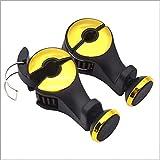 Car Phone Holder Mobile Porta Telefono Sedile Dietro La Sedia Magnete Adsorbimento Telefono Cellulare Gancio Multi-Funzione Gancio Auto,Yellow