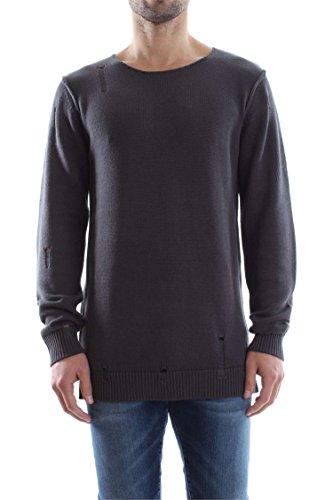 Jack & Jones Thomas Knit Crew Neck uomo, maglione, grigio Asphalt