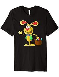 Oster T-Shirt mit Osterhasen, Osterkorb und Ostereiern