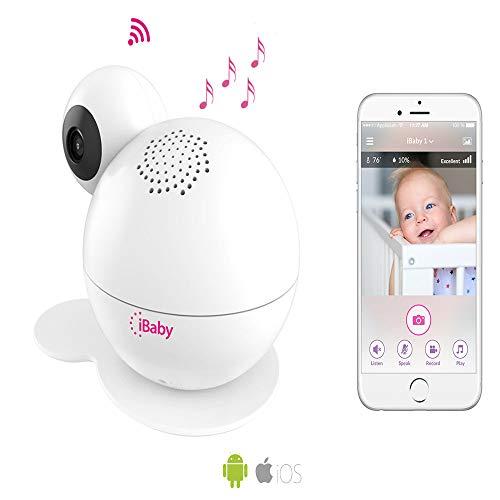 iBabyCare M7 Lite Baby Monitor smartes Babyphone per App schwenkbare Kamera, Nachtsicht, Sensoren für Temperatur und Luftfeuchtigkeit mit Gegensprechfunktion