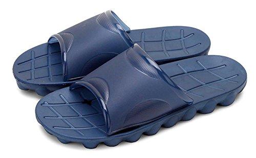 Chaussons de douche antidérapants unisex, sandales de plage, moulants avec semelle en résine et haut en mousse, idéals pour la piscine, la salle de bain pour adulte Bleu