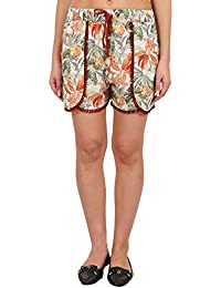 9teenAGAIN Women's Rayon Printed Nightwear Shorts(Multicolor)-2SS18-2229-SH1