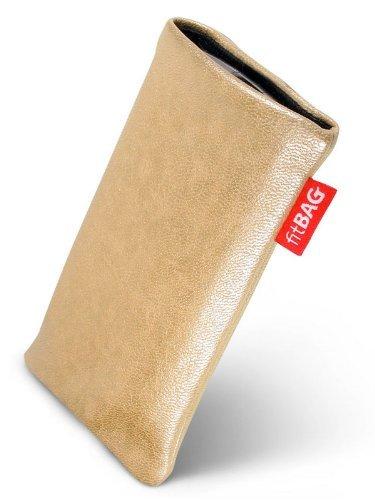 fitBAG Blues Creme Handytasche Tasche aus Lederimitat mit Microfaserinnenfutter für Samsung SGH-X510
