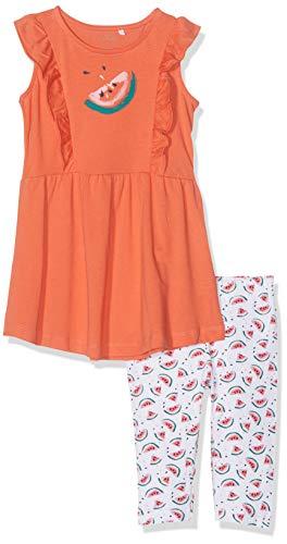 n NMFVENUS Set H Bekleidungsset, Orange (Emberglow), (Herstellergröße: 98) ()