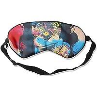 Sleep Eye Mask Painting Chimpanzee Lightweight Soft Blindfold Adjustable Head Strap Eyeshade Travel Eyepatch preisvergleich bei billige-tabletten.eu