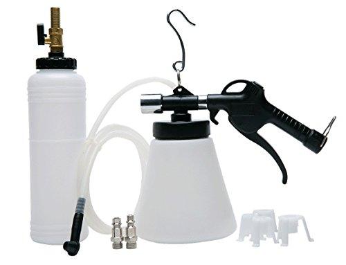 FreeTec dispositivo ad aria compressa per Spurgo freni, con bottiglia di ricarica