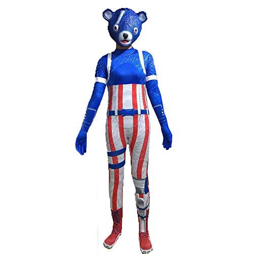Unisex Lycra Spandex Cosplay Kostüme Frauen Panda 3D Style (blau, 160cm) ()