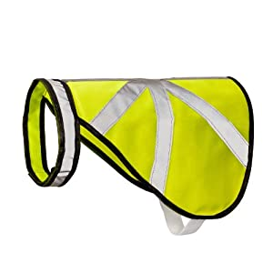 2-TECH Veste de sécurité chaude pour chien Jaune fluo/zones réfléchissantes Taille L
