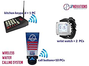 Jpnovations Wireless Waiter Calling System with Kitchen/Guest Call