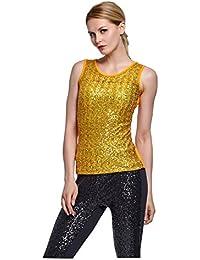 fbf31d99e8fe Suchergebnis auf Amazon.de für  Pailletten Shirt - Gold  Bekleidung
