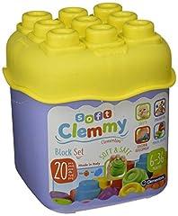 Idea Regalo - Clementoni-Clementoni-14741-Soft Clemmy-Secchiello 20 Pezzi-Colori Assortiti, Multicolore, 14741