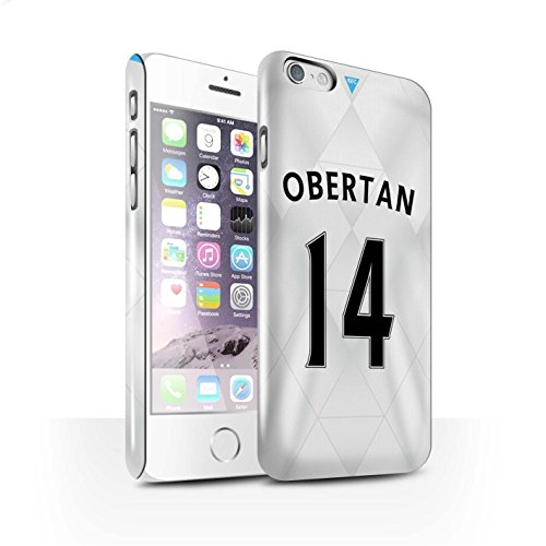 Offiziell Newcastle United FC Hülle / Glanz Snap-On Case für Apple iPhone 6 / Coloccini Muster / NUFC Trikot Away 15/16 Kollektion Obertan