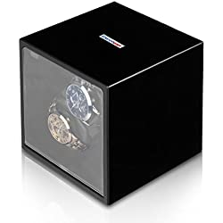 Excelvan Automatic Rotate Watch Winder 2+0 Storages Box Case Multiple Modes Premium Silent Motor Auto Watch Winder Black Painting