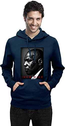 Iron Mike Tyson Tattoo Face Portrait Mens Hoodie XX-Large