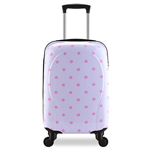 Trolley bagaglio a mano 55cm Valigia rigida, guscio duro e antigraffio con 4 ruote. Ideale a bordo di Ryanair, Alitalia, Meridiana, EasyJet, WizzAir.(bianco)