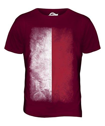 CandyMix Polen Verblichen Flagge Herren T Shirt Burgunderrot