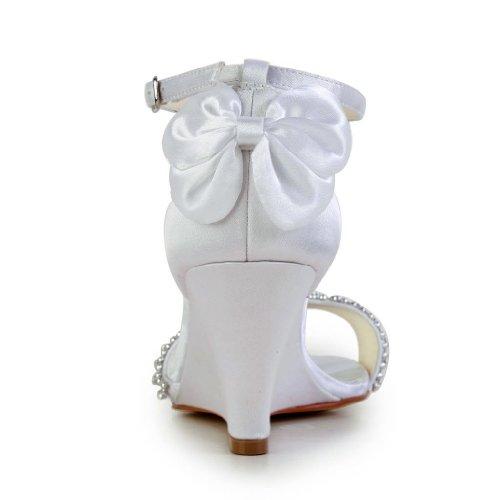 Jia Jia Wedding 121755 Scarpe Sposa Scarpe col tacco donna Bianco
