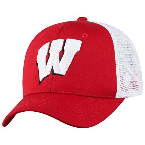 Top of the World NCAA-Ranger Trucker mesh-Adjustable Snapback Hat Cap, Herren, Wisconsin Badgers-White, Einstellbar -