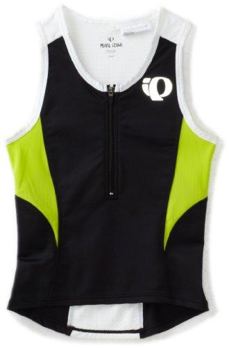 Pearl Izumi JR Tri Kinder Triathlon Fahrrad Body Shirt kurz schwarz/lime grün 2014: Größe: XXL (172)