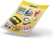 stickeraat collection 4 - Luggage Decals Bumper Stickers - game over, arabic coffee, batman, riyadh, good vibe