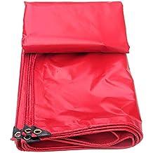 ZXQZ Lona, Pvc rojo recubierto Tela impermeable Techo Tejado Protector solar Lona Lonas (Tamaño