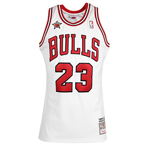 NBA Mitchell & Ness Michael Jordan Chicago Bulls 1998 swingman Jersey Trikot - Neu (XL(56-58), Weiß)