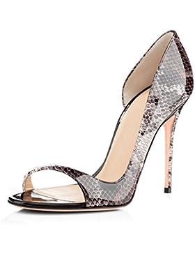 ELASHE- Scarpe da Donna - 12CM Peep Toe Scarpe col Tacco - Classiche Scarpe col Tacco