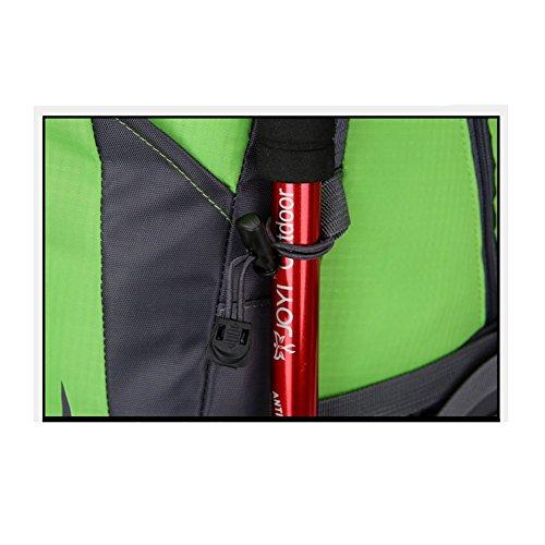 35L Outdoor alpinismo borsa uomini e donne spalla Borsa sportiva per il tempo libero zaino da viaggio., Blue Black