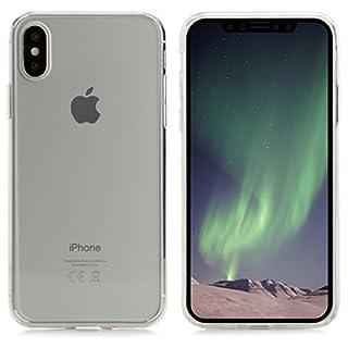 Hülle für iPhone XS, Hülle für iPhone X Handyhülle Silikon Cushion Clear Case - glasklar transparent [kabelloses Laden Unterstützung] passgenau