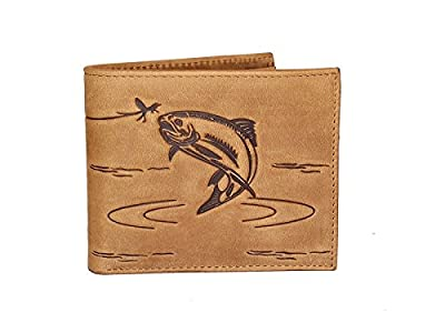 Fly Fishing Leather Designer Wallet