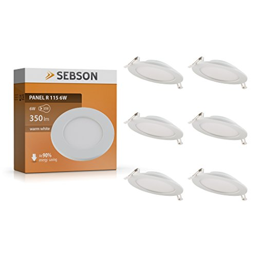 Downlight LED luz cálida 6w 115mm SEBSON