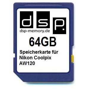 DSP Memory Z-4051557425316 64GB Speicherkarte für Nikon COOLPIX AW120
