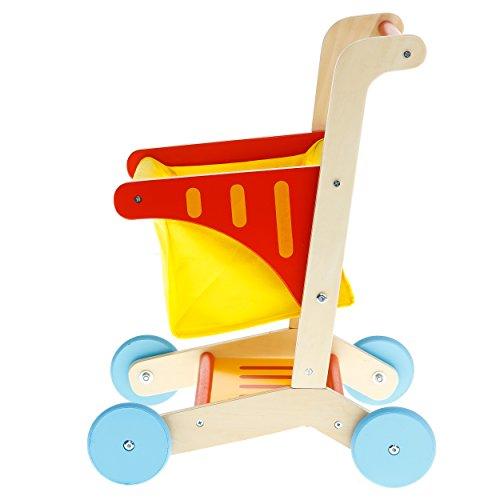 Tooky Toys tki010Holz Warenkorb, Mehrfarbig