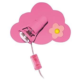 led wandleuchte 3 watt wandlampe einzel spot kinderzimmer blume rosa wolke beleuchtung. Black Bedroom Furniture Sets. Home Design Ideas