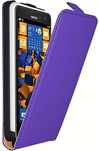 mumbi PREMIUM ECHT Leder Flip Case Nokia Lumia 625 Tasche lila