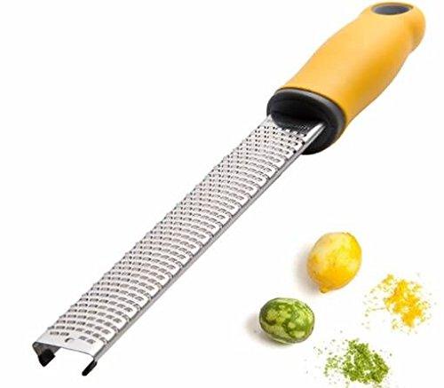Citrus Lemon zester & grattugia-grattugia zester Shredder Good per parmigiano, limone, zenzero, noce moscata, cioccolato, cocco, patate, agrumi, coperchio formaggi e spezie Fruits-razor-sharp