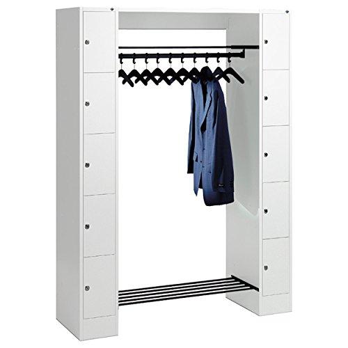 Offene Garderobe für 10 Personen Garderobenschrank Wertfachschrank kleine Fächer