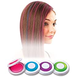 Hot Huez Temporary Hair Chalk, Set Of 4 Colors