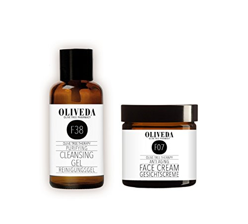 *Neu* Oliveda Anti-Aging Creme (30ml) + Klärendes Reinigungsgel (30ml)