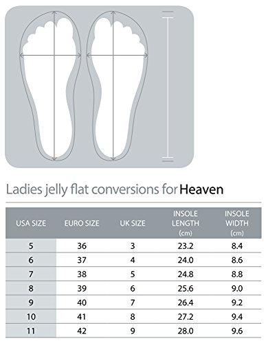 Holster ® SS15 Femme-plats en silicone Exclusive 'Heaven'Style Luxury Sandales été (Transparent/Champagne/blanc/gris clair-Taille 4 UK 8) Blanc - blanc