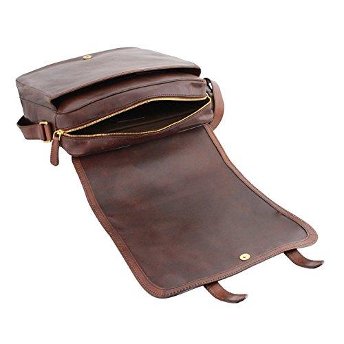 The Bridge Story Vintage Sac bandoulière cuir 33 cm compartiment ordinateur portable brown