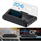 iKiKin Car Head Display Up OBD2 con Panel de reflexión Sin Doble Imagen Proyección estéreo Display