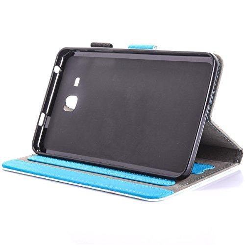 inShang T280 Cover per Samsung Galaxy TAB A 7.0 Inch T280 Custodia case in pelle PU,Supporto per Tenere il Tablet Samsung sollevato, Two Cats