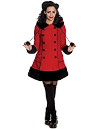Hell Bunny Kurzmantel SARAH JANE COAT red-black